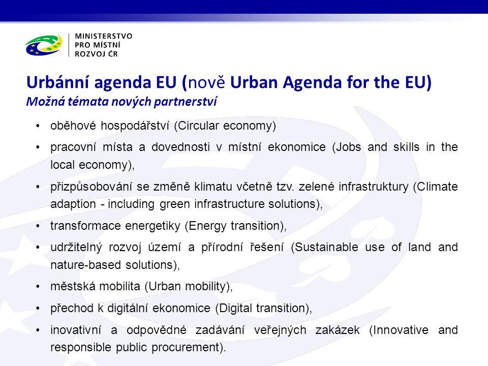oběhové hospodářství (Circular economy) pracovní místa a dovednosti v místní ekonomice (Jobs and skills in the local economy), přizpůsobování se změně