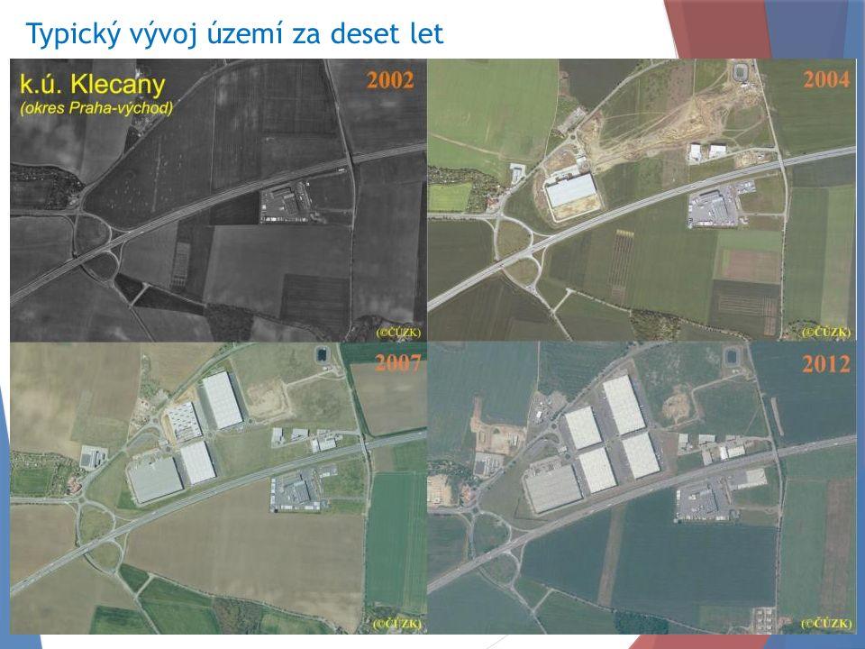 Typický vývoj území za deset let