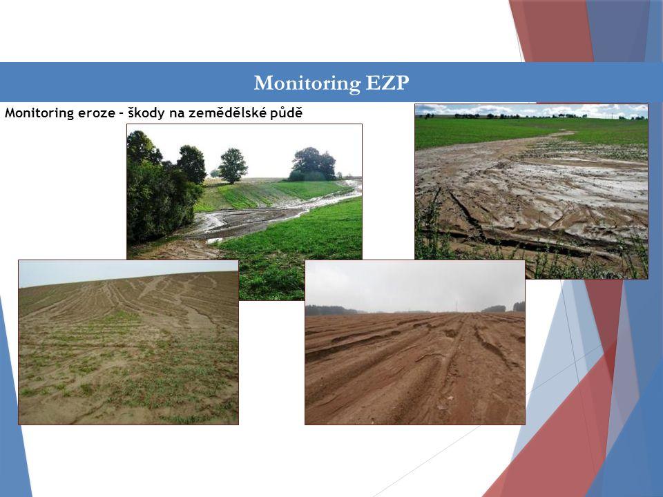 Činnost oddělení Monitoring eroze - škody na zemědělské půdě Monitoring EZP