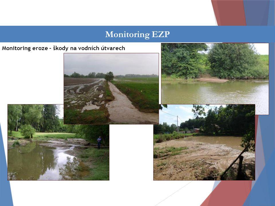 Činnost oddělení Monitoring eroze – škody na vodních útvarech Monitoring EZP