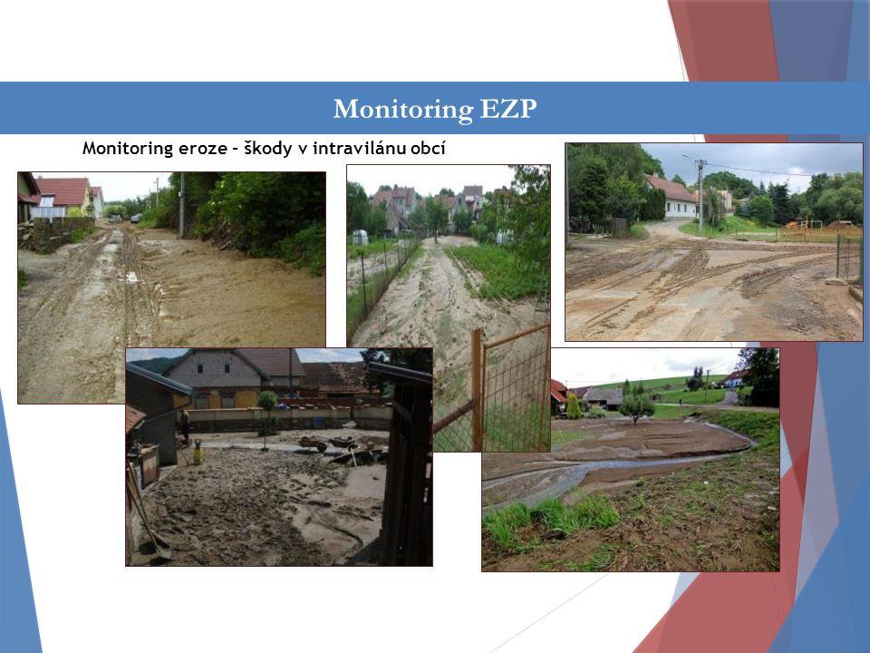 Činnost oddělení Monitoring eroze - škody v intravilánu obcí Monitoring EZP