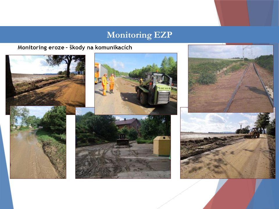 Činnost oddělení Monitoring eroze – škody na komunikacích Monitoring EZP