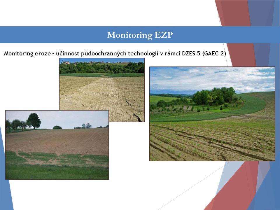 Činnost oddělení Monitoring eroze - účinnost půdoochranných technologií v rámci DZES 5 (GAEC 2) Monitoring EZP