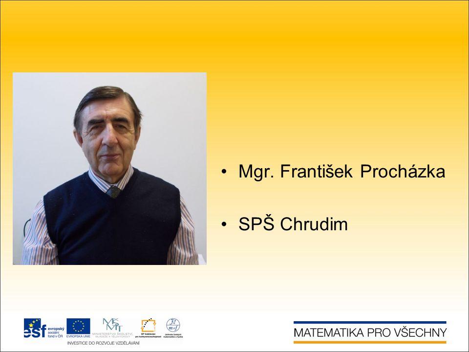 Mgr. František Procházka SPŠ Chrudim