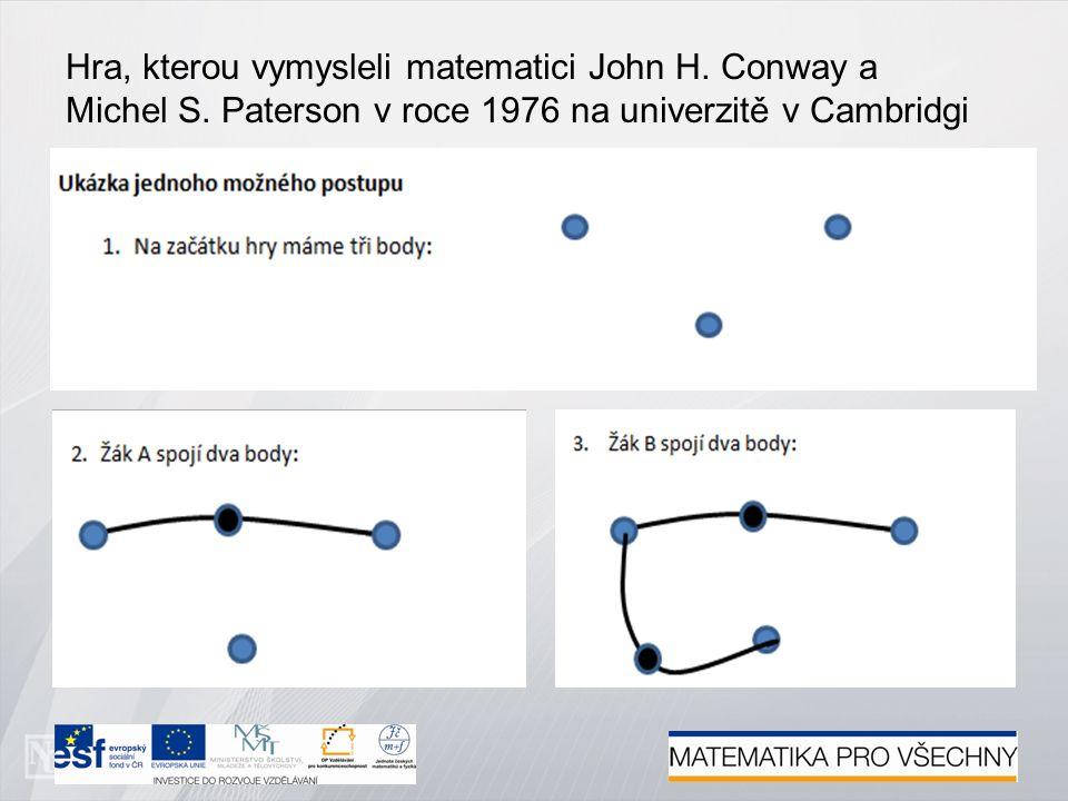 Hra, kterou vymysleli matematici John H. Conway a Michel S.