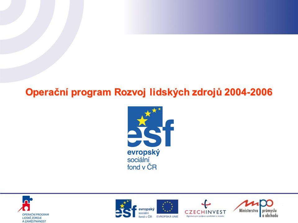 Operační program Rozvoj lidských zdrojů 2004-2006
