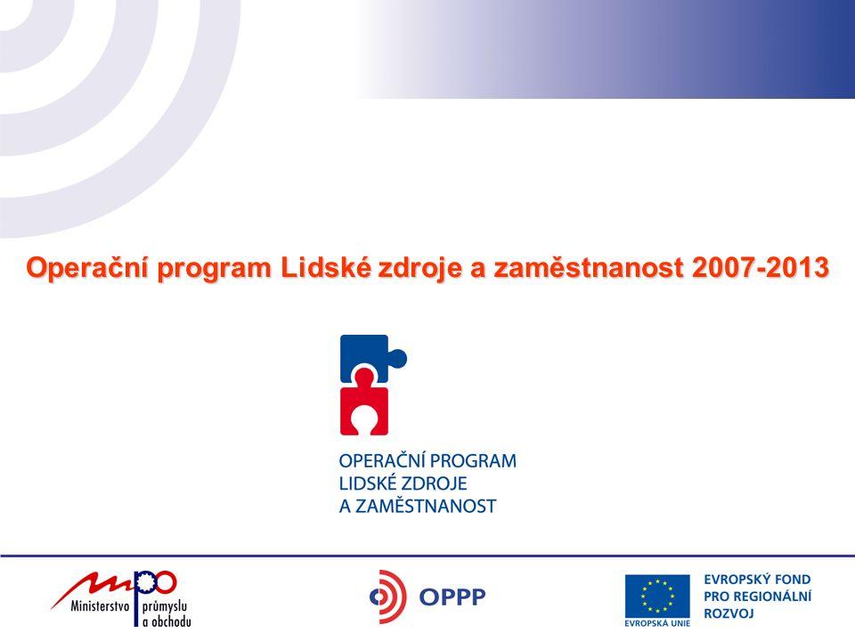 Operační program Lidské zdroje a zaměstnanost 2007-2013