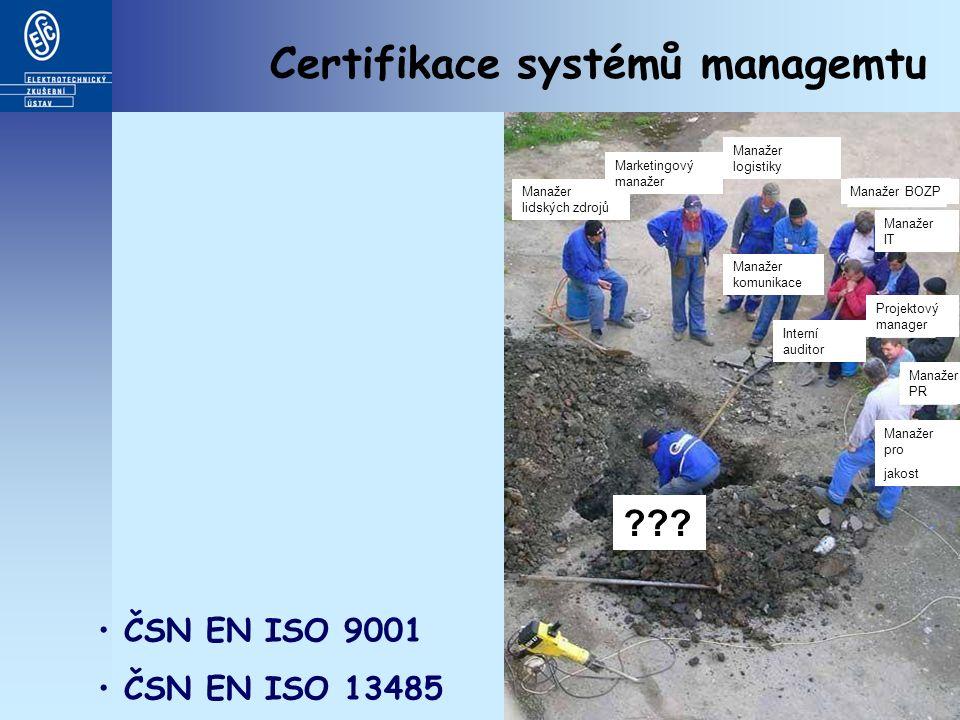 Certifikace systémů managemtu Manažer lidských zdrojů Marketingový manažer Manažer logistiky Manažer BOZP Manažer IT Projektový manager Manažer PR Manažer pro jakost Interní auditor Manažer komunikace .