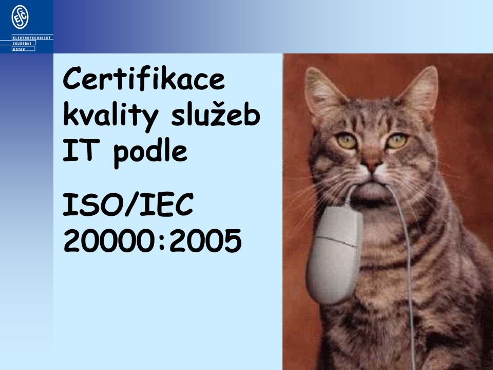 Certifikace kvality služeb IT podle ISO/IEC 20000:2005