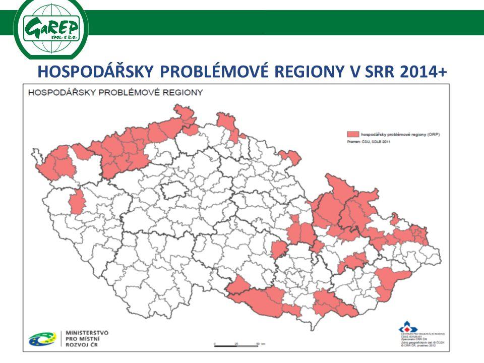 HOSPODÁŘSKY PROBLÉMOVÉ REGIONY V SRR 2014+. 31 Regionální rozvoj a praxe