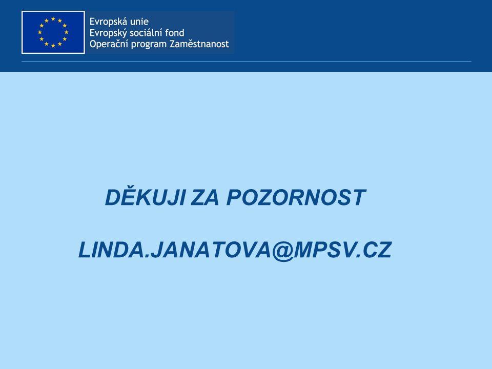 DĚKUJI ZA POZORNOST LINDA.JANATOVA@MPSV.CZ