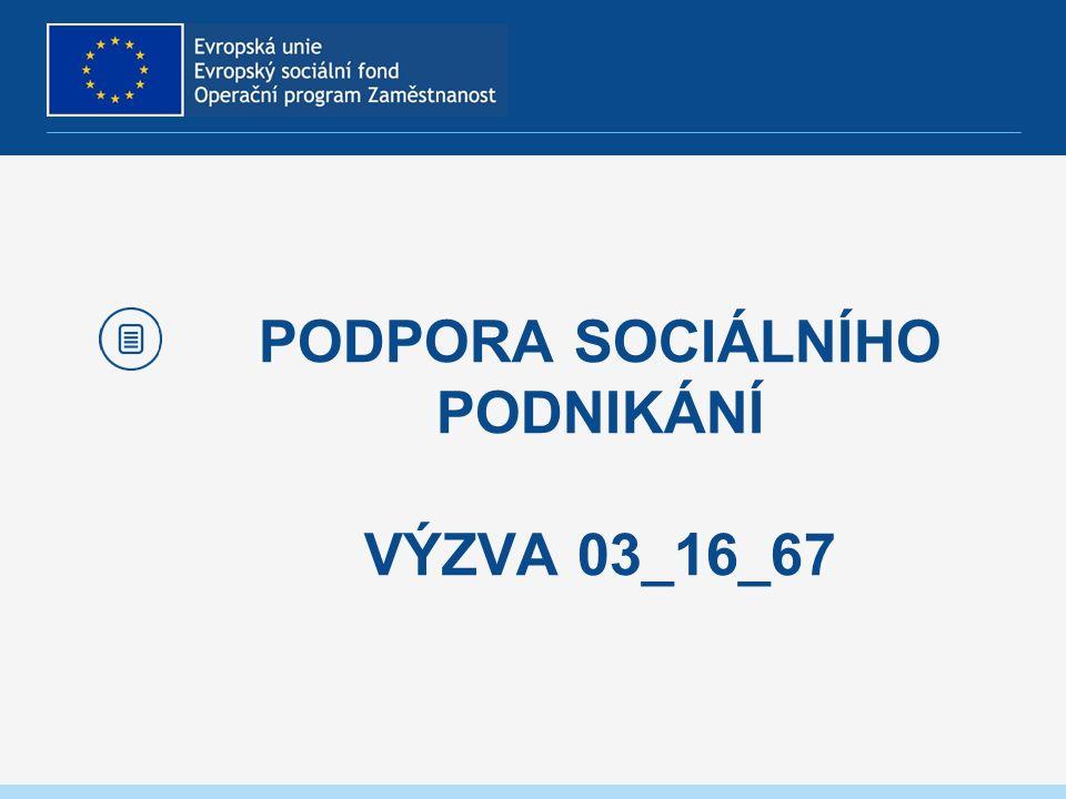 PODPORA SOCIÁLNÍHO PODNIKÁNÍ VÝZVA 03_16_67