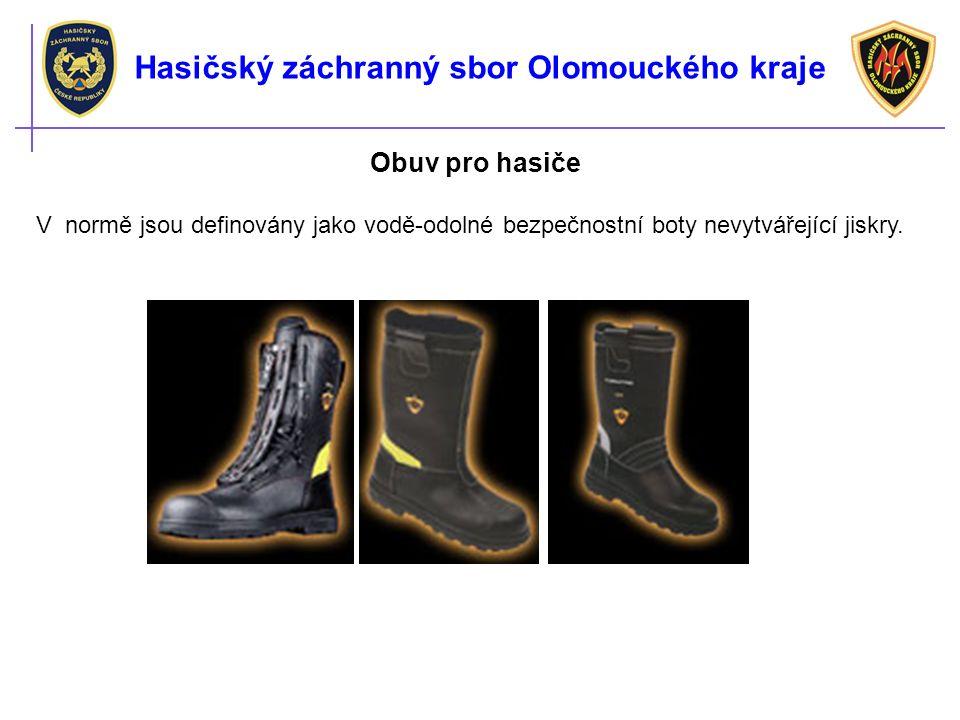 Obuv pro hasiče V normě jsou definovány jako vodě-odolné bezpečnostní boty nevytvářející jiskry.