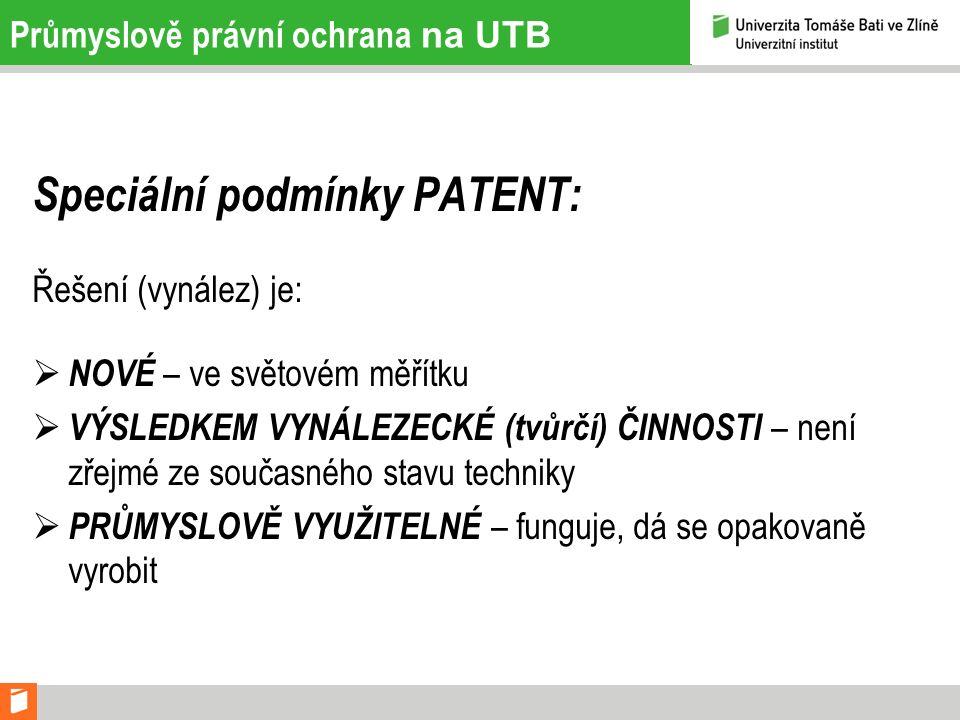 Postup řízení na UTB 1