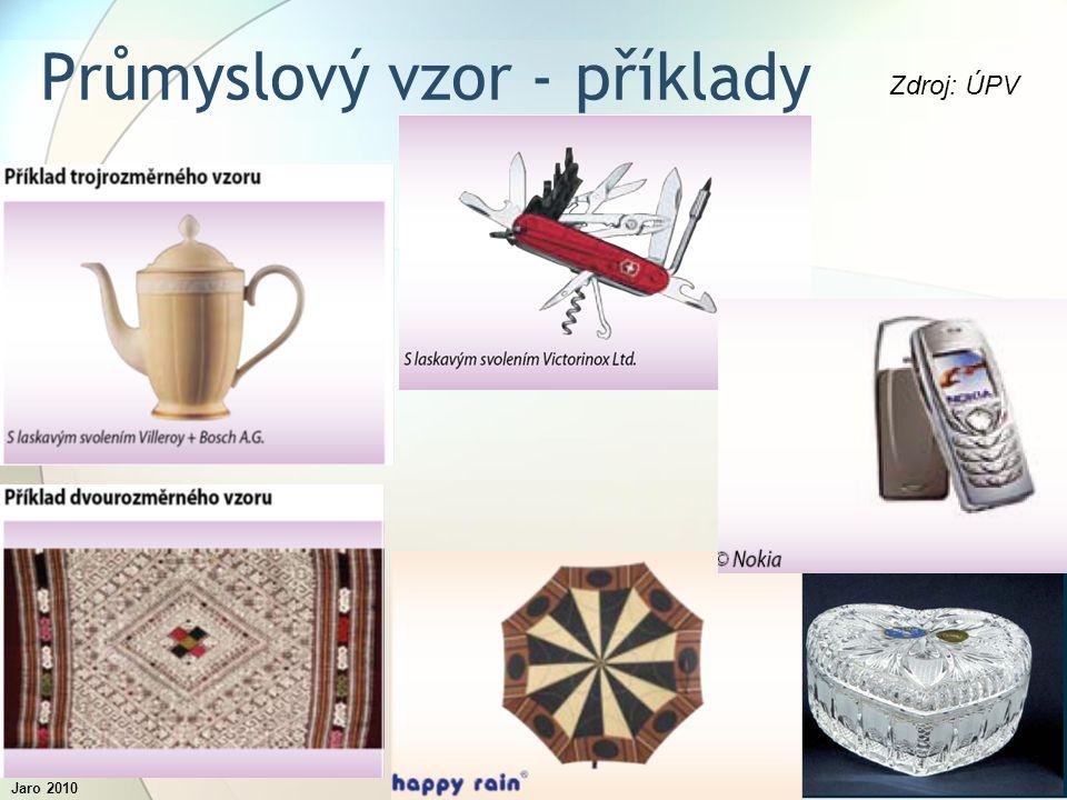 Jaro 2010Inovační procesy12 Průmyslový vzor - příklady Zdroj: ÚPV