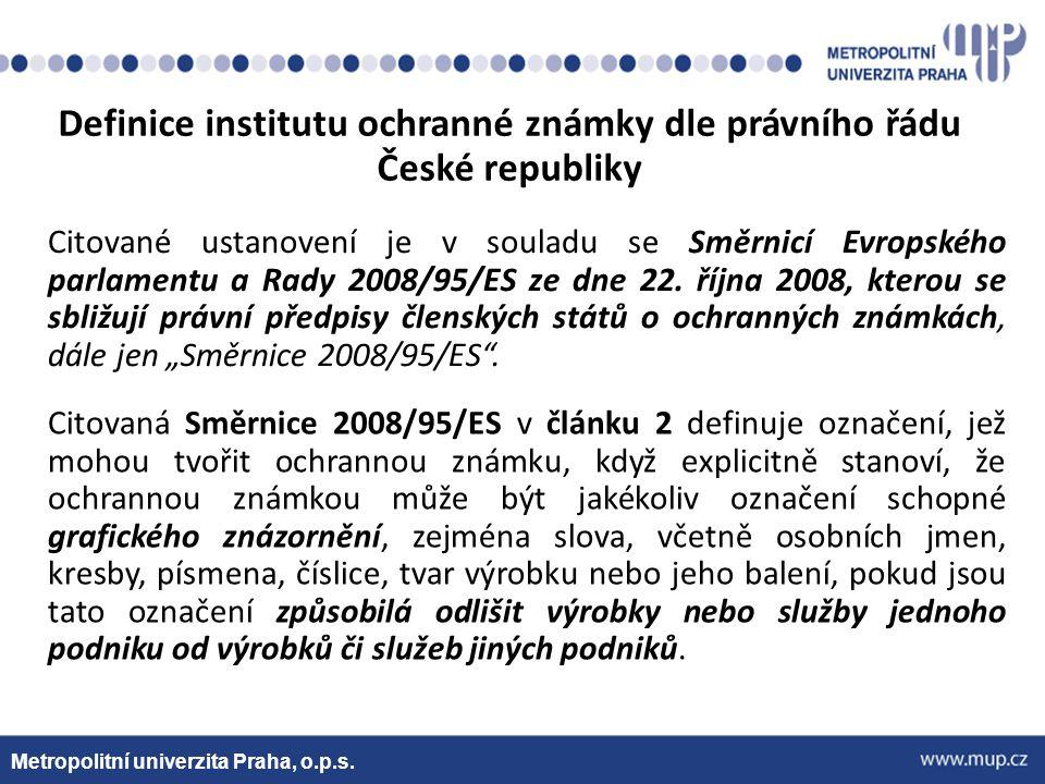 Metropolitní univerzita Praha, o.p.s.