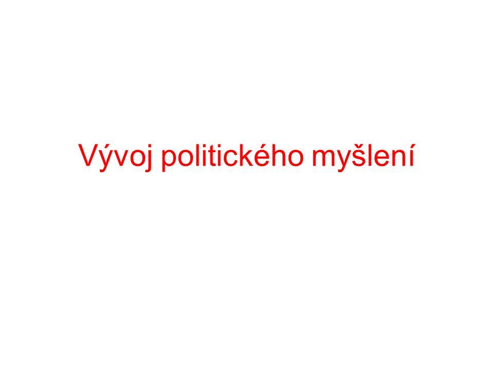 Vývoj politického myšlení