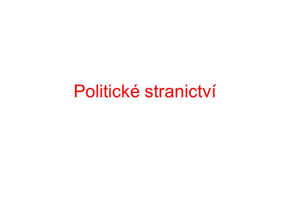 Politické stranictví
