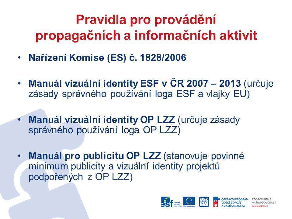Pravidla pro provádění propagačních a informačních aktivit Nařízení Komise (ES) č.