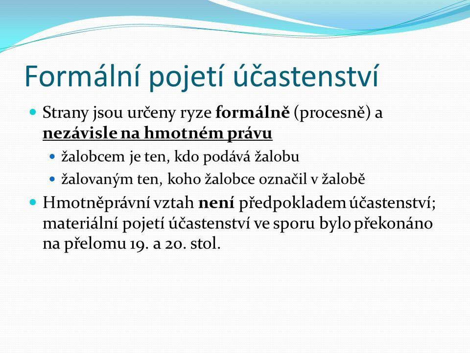 Zastoupení procesně způsobilé FO (§ 29 odst.