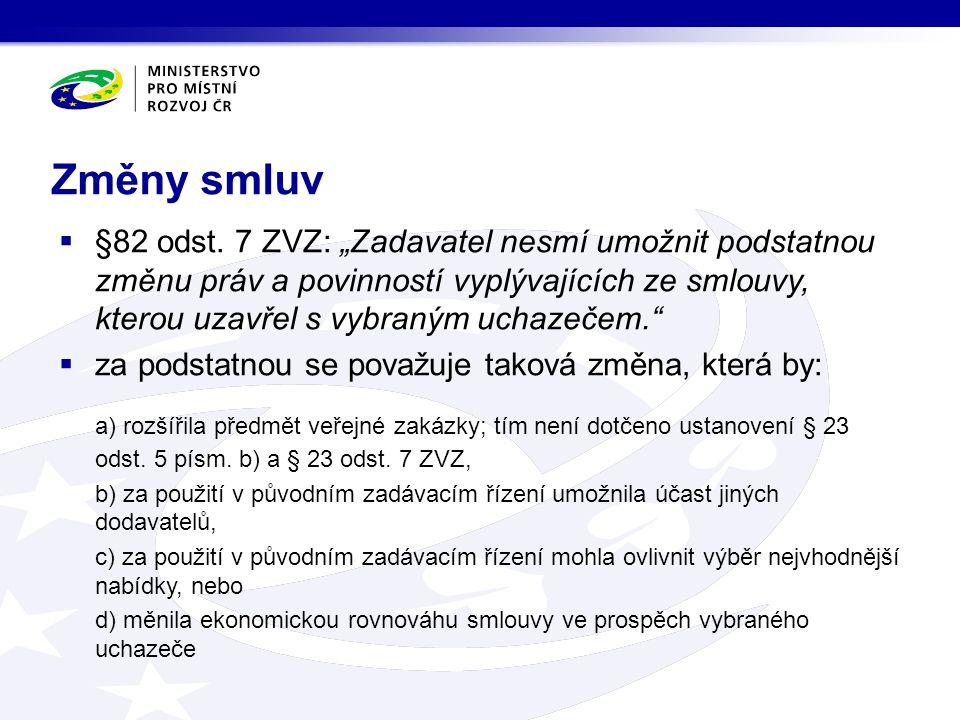 Změny smluv  §82 odst.