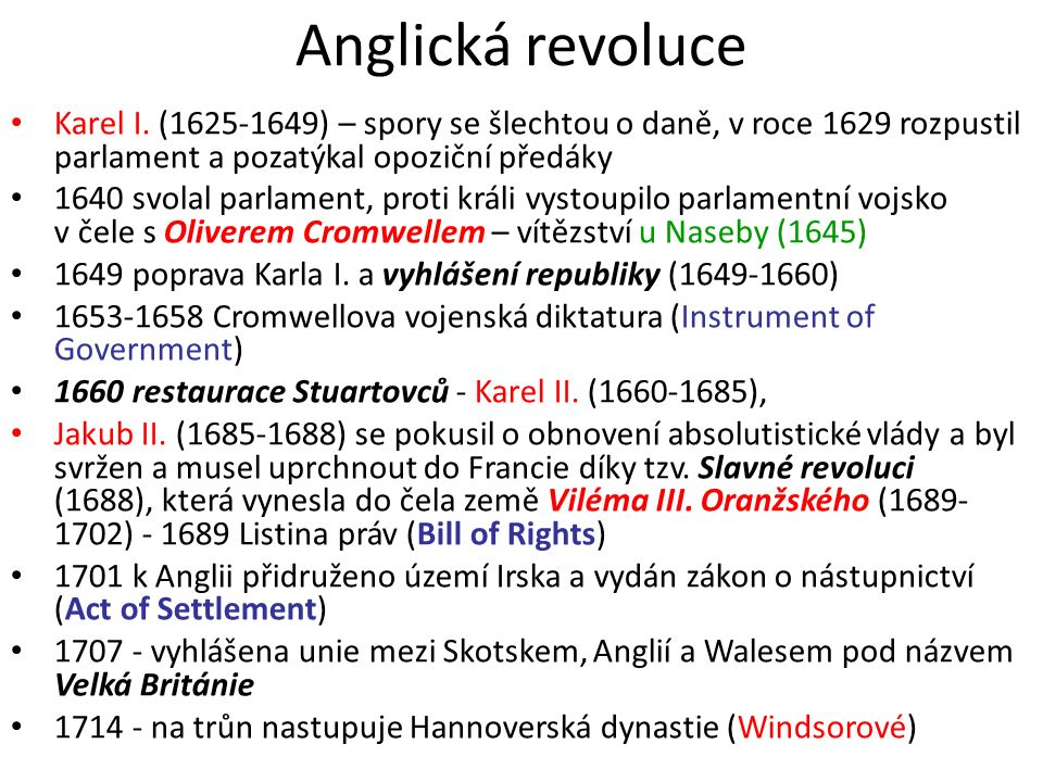 Anglická revoluce Karel I.