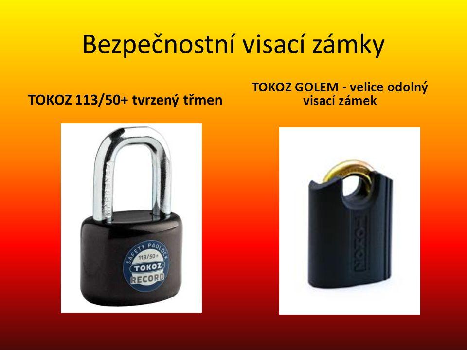 Bezpečnostní visací zámky TOKOZ 113/50+ tvrzený třmen TOKOZ GOLEM - velice odolný visací zámek