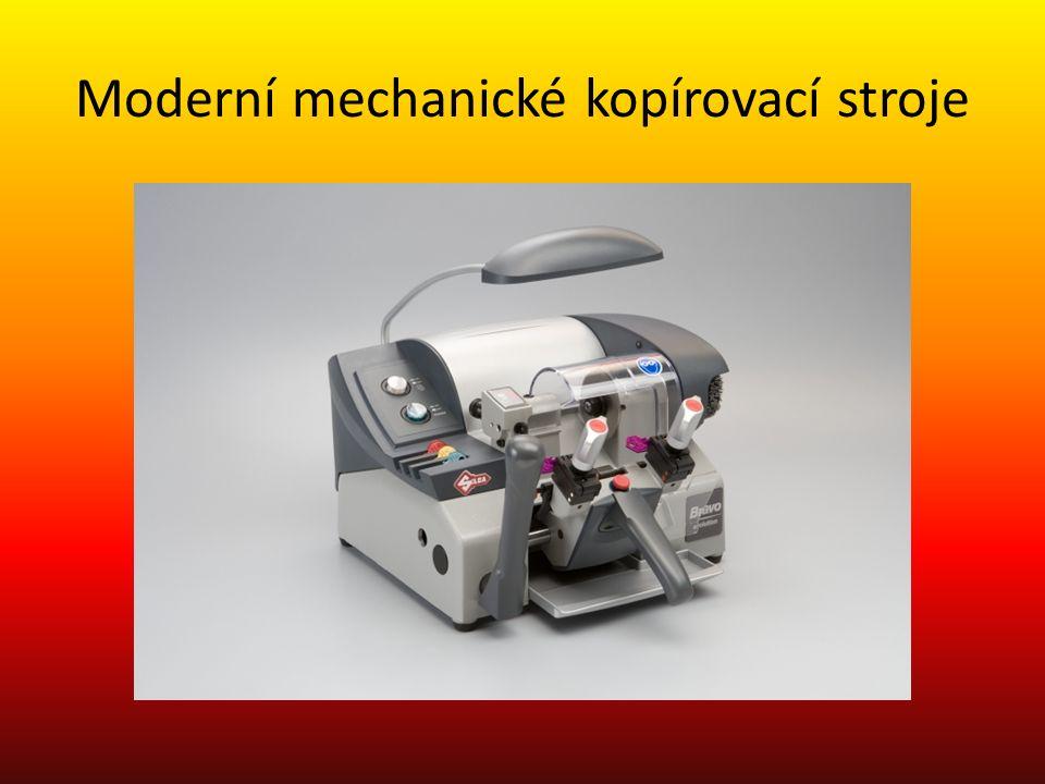 Moderní mechanické kopírovací stroje