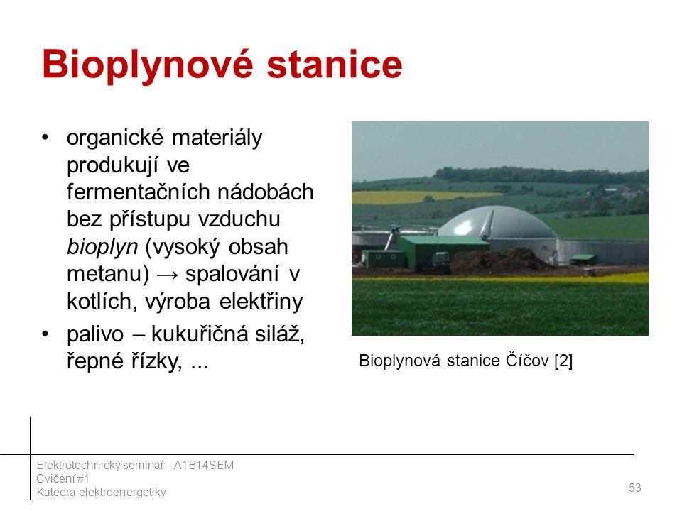 Bioplynové stanice organické materiály produkují ve fermentačních nádobách bez přístupu vzduchu bioplyn (vysoký obsah metanu) → spalování v kotlích, v