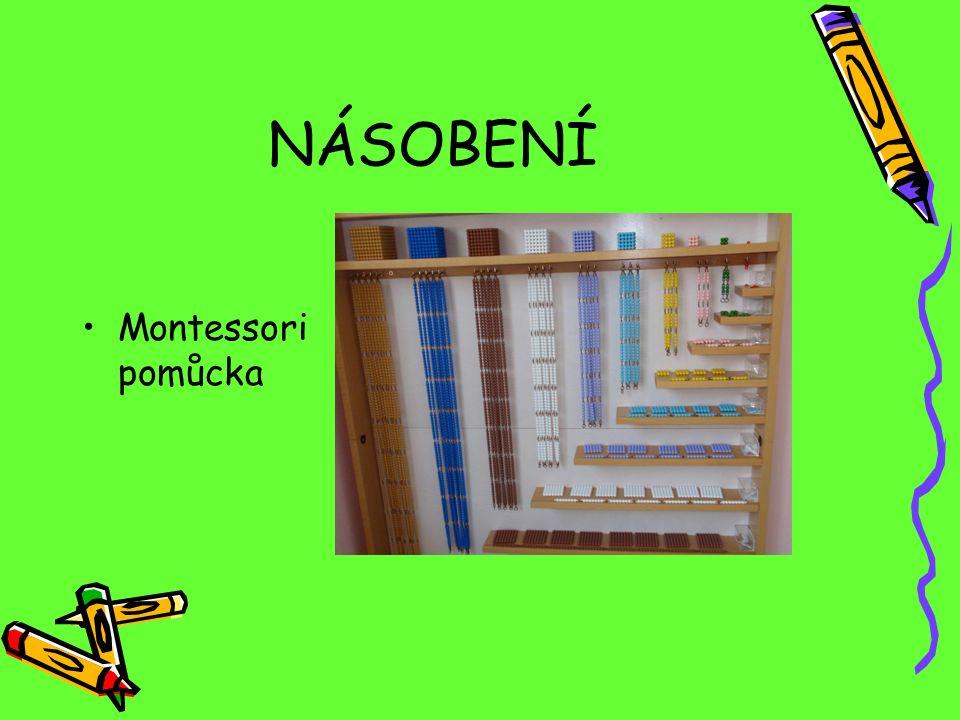 NÁSOBENÍ Montessori pomůcka