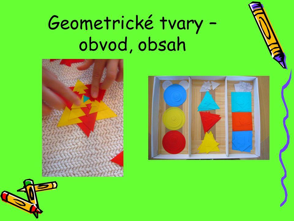 Geometrické tvary – obvod, obsah