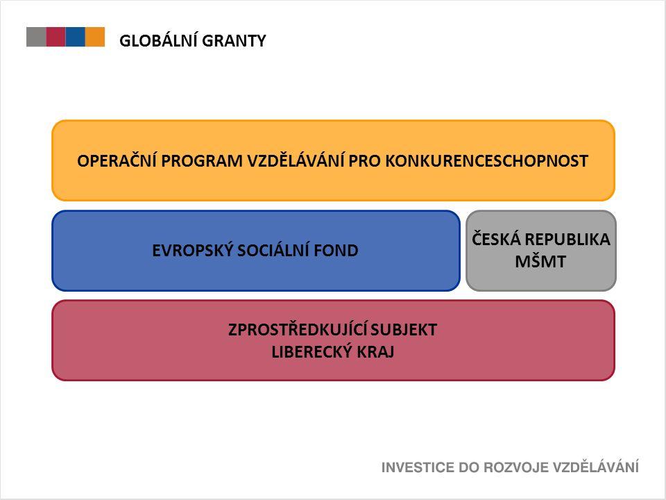 GLOBÁLNÍ GRANTY VS.OSTATNÍ TYPY PROJEKTŮ TZV.