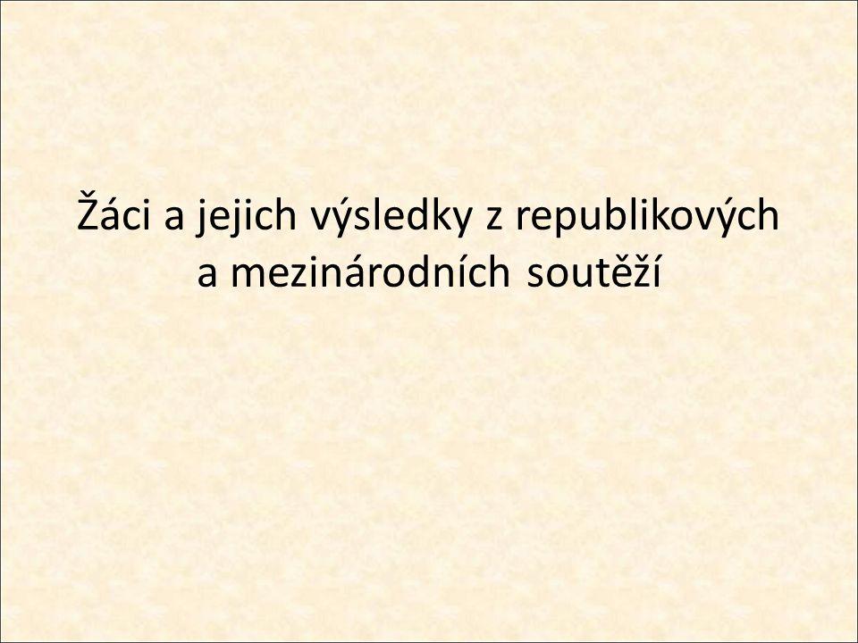 NIKOLA JERINIČ 3.místo - Zeměpisná olympiáda, kategorie D (žáci střední školy) Gymnázium F.