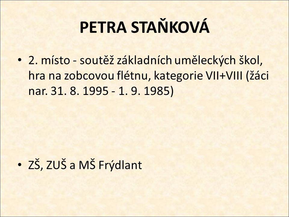 PETRA STAŇKOVÁ 2.