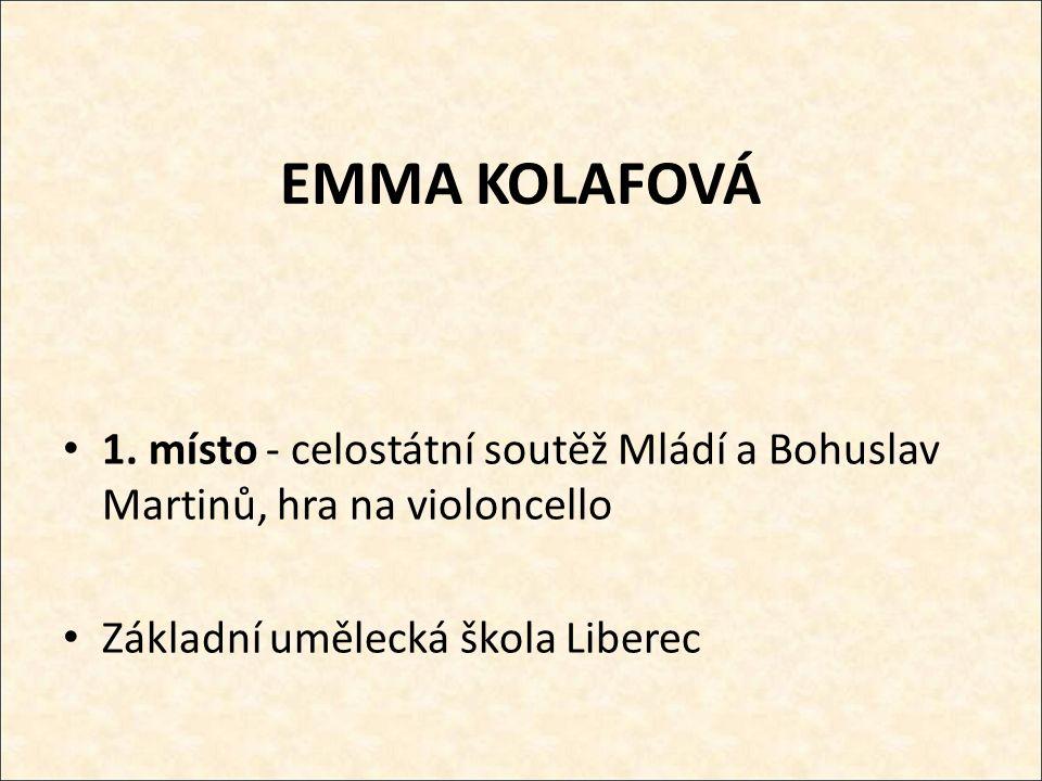 EMMA KOLAFOVÁ 1.