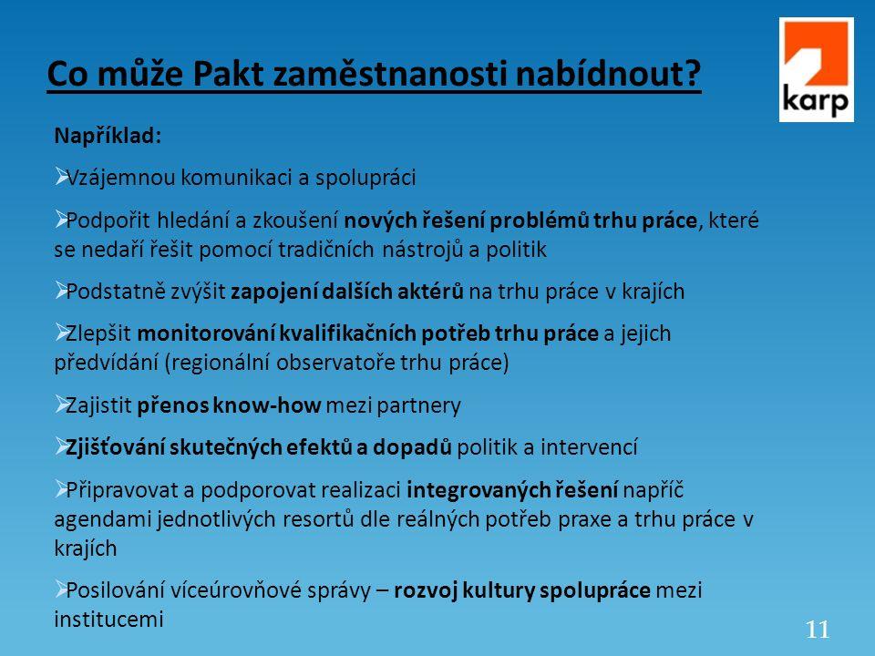 11 Co může Pakt zaměstnanosti nabídnout.