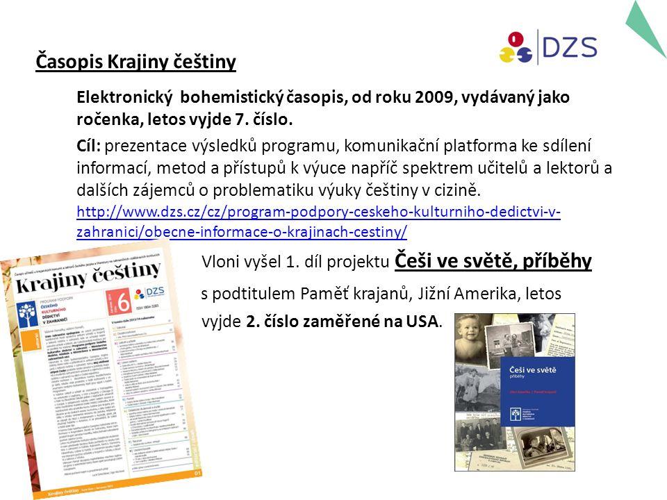 Časopis Krajiny češtiny Elektronický bohemistický časopis, od roku 2009, vydávaný jako ročenka, letos vyjde 7.