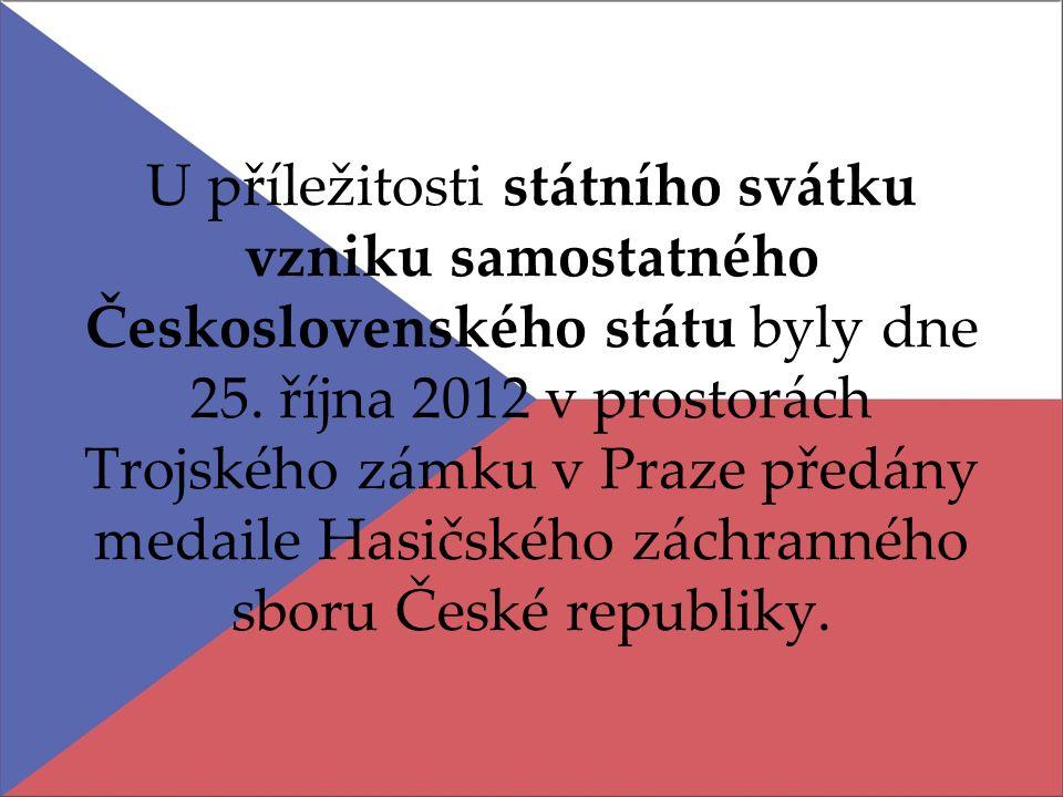 U příležitosti státního svátku vzniku samostatného Československého státu byly dne 25.