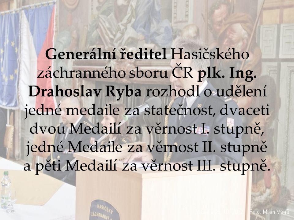 Generální ředitel Hasičského záchranného sboru ČR plk.