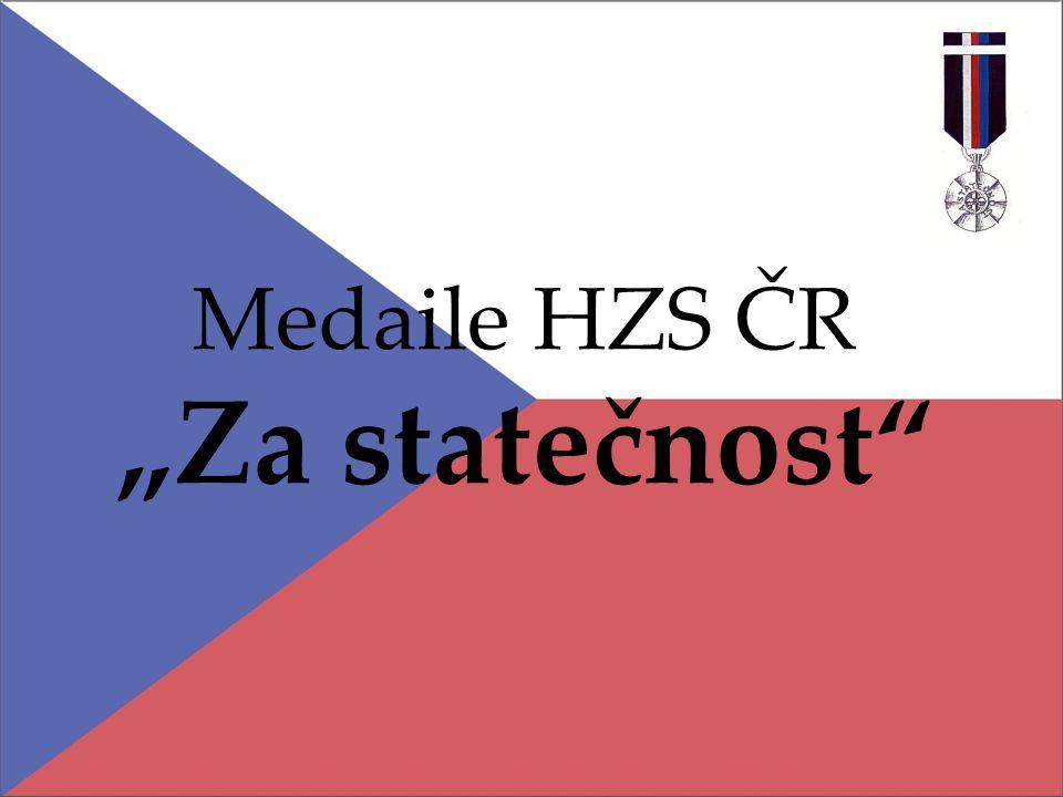 """Medaile HZS ČR """"Za statečnost"""