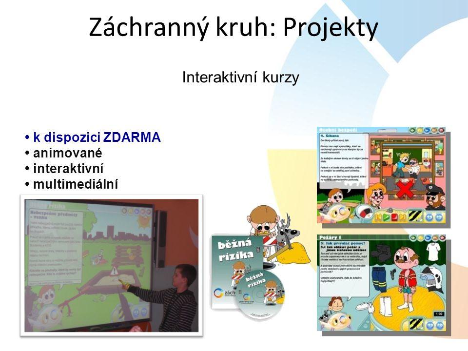 Interaktivní kurzy k dispozici ZDARMA animované interaktivní multimediální Záchranný kruh: Projekty