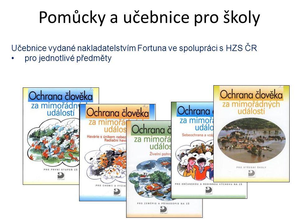 Učebnice vydané nakladatelstvím Fortuna ve spolupráci s HZS ČR pro jednotlivé předměty Pomůcky a učebnice pro školy