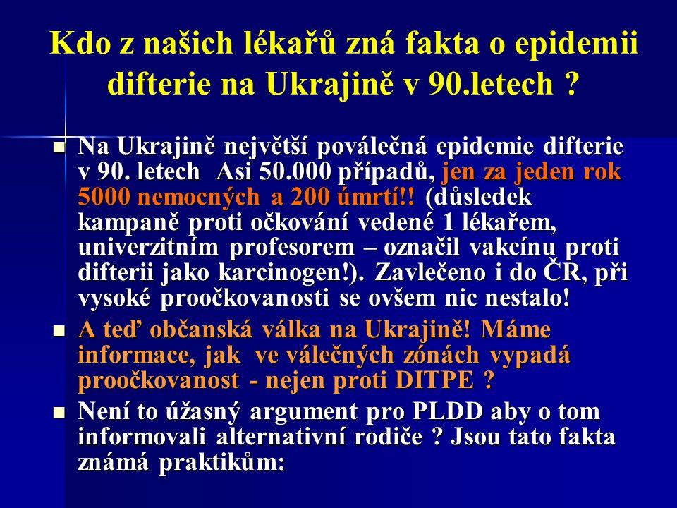 Kdo z našich lékařů zná fakta o epidemii difterie na Ukrajině v 90.letech .