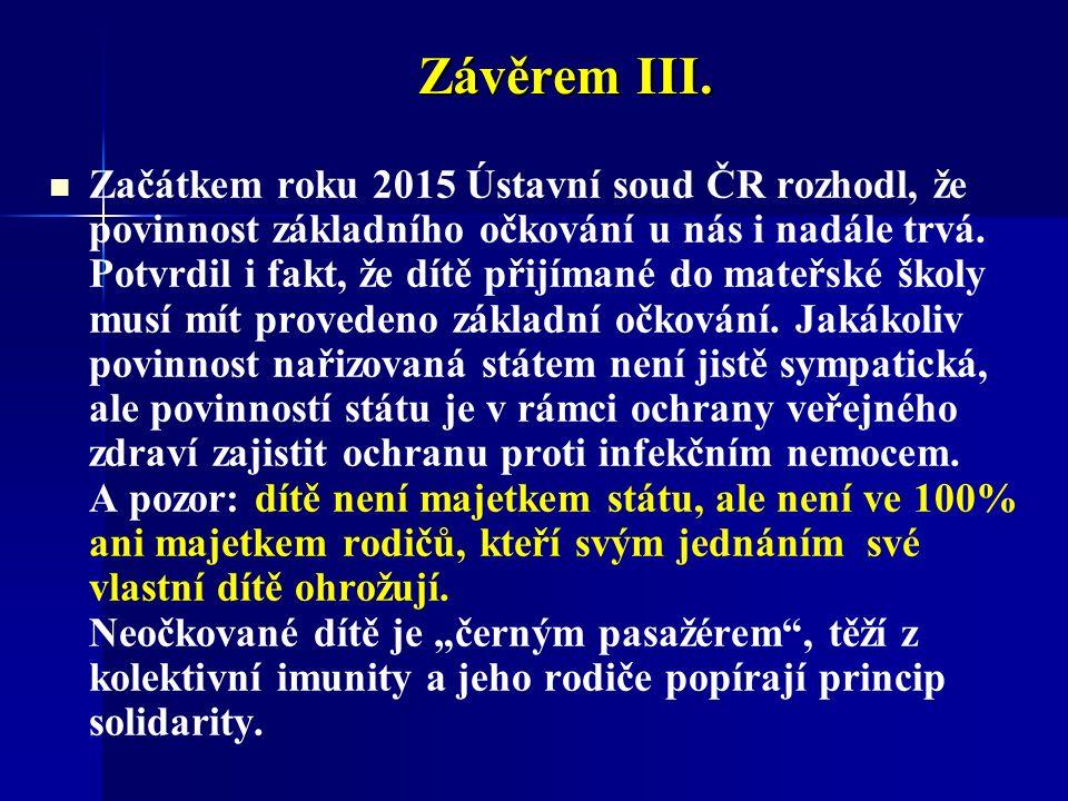 Závěrem III.