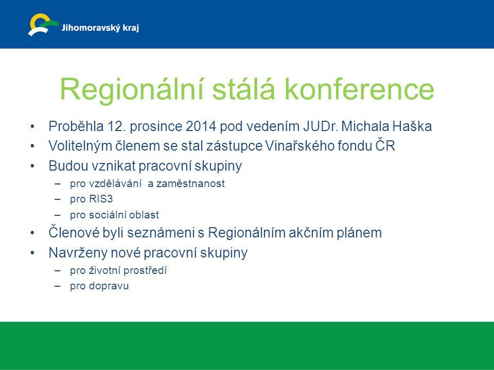 Regionální stálá konference Proběhla 12. prosince 2014 pod vedením JUDr.