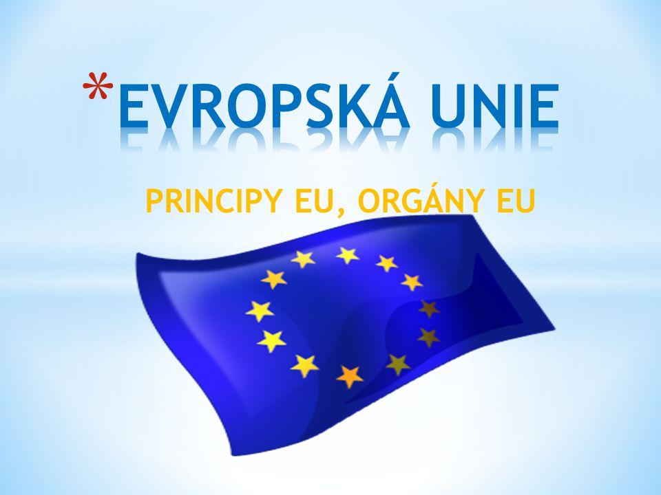 PRINCIPY EU, ORGÁNY EU