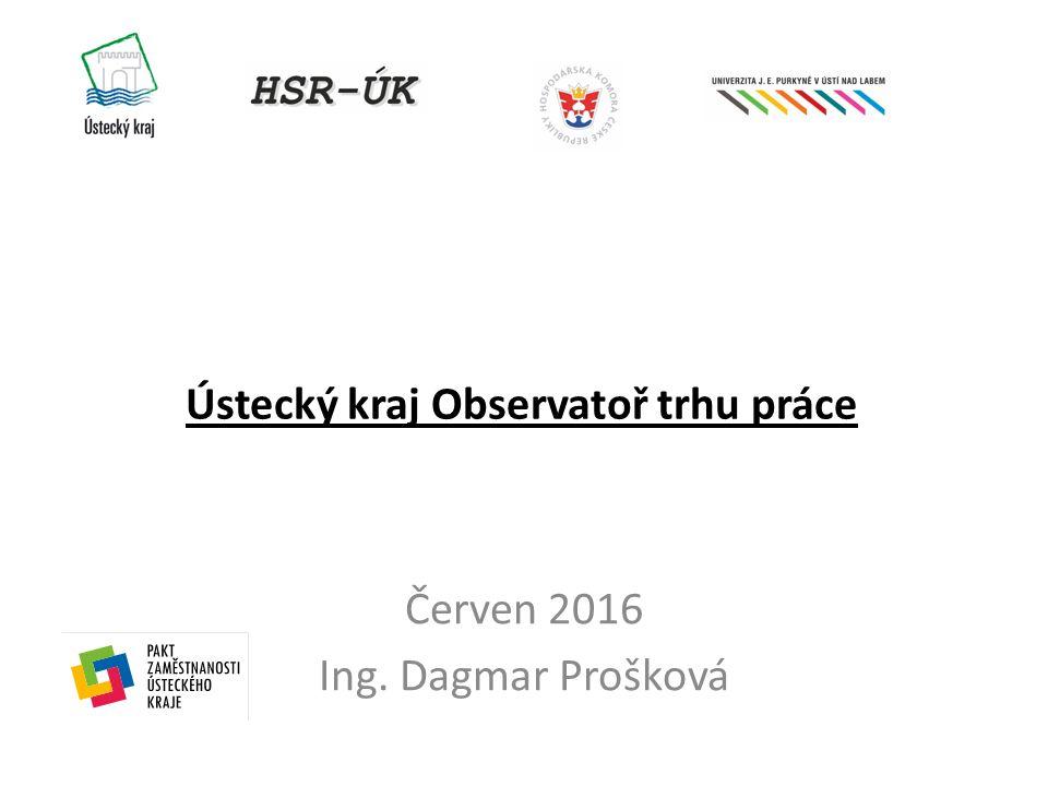 Ústecký kraj Observatoř trhu práce Červen 2016 Ing. Dagmar Prošková