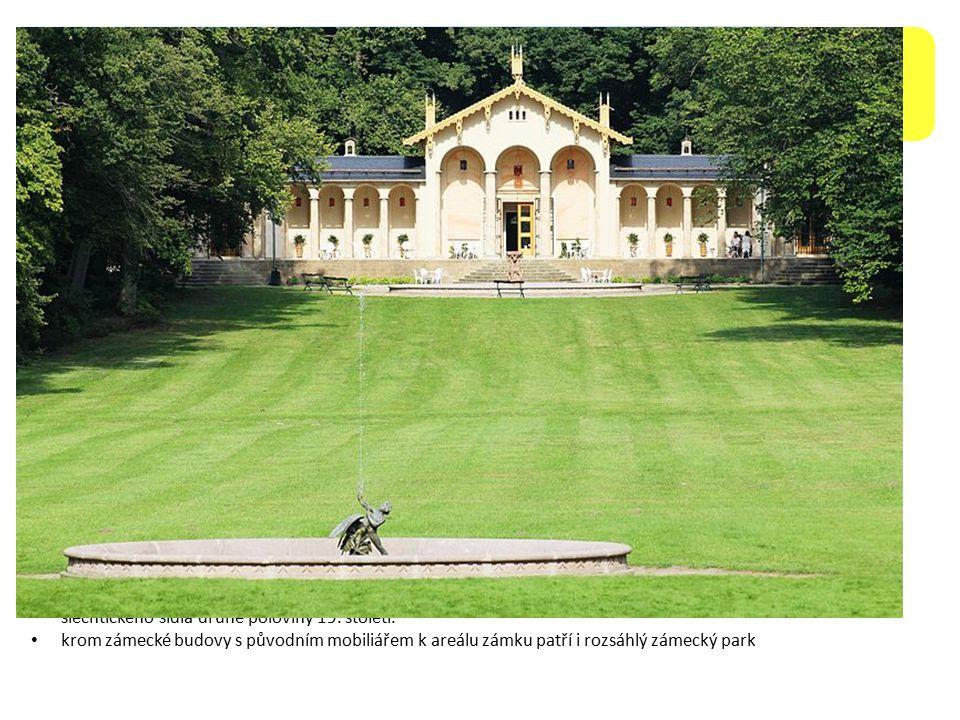 Zámek Sychrov nachází se ve stejnojmenné obci v Libereckém kraji, 16 km jižně od Liberce a 6 km severozápadně od Turnova jedná se o státní zámek zpřístupněný veřejnosti od roku 1950, který je unikátním příkladem novogotického šlechtického sídla druhé poloviny 19.