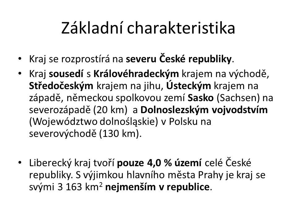 Administrativní dělení Liberecký kraj a další kraje byly vytvořeny ústavním zákonem č.