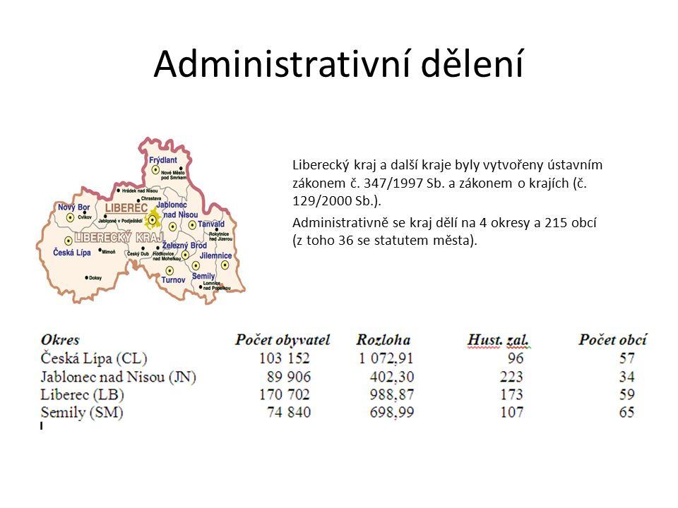 Přírodní podmínky Přirozenou hranici s Německem a Polskem tvoří pohoří Lužické hory, Jizerské hory a Krkonoše.